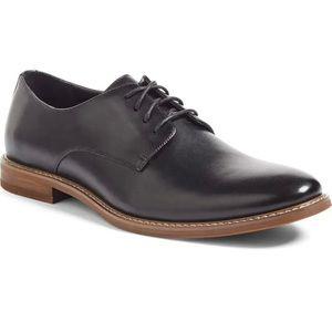 The Rail Everett Plain Toe Derby Dress Shoes Black